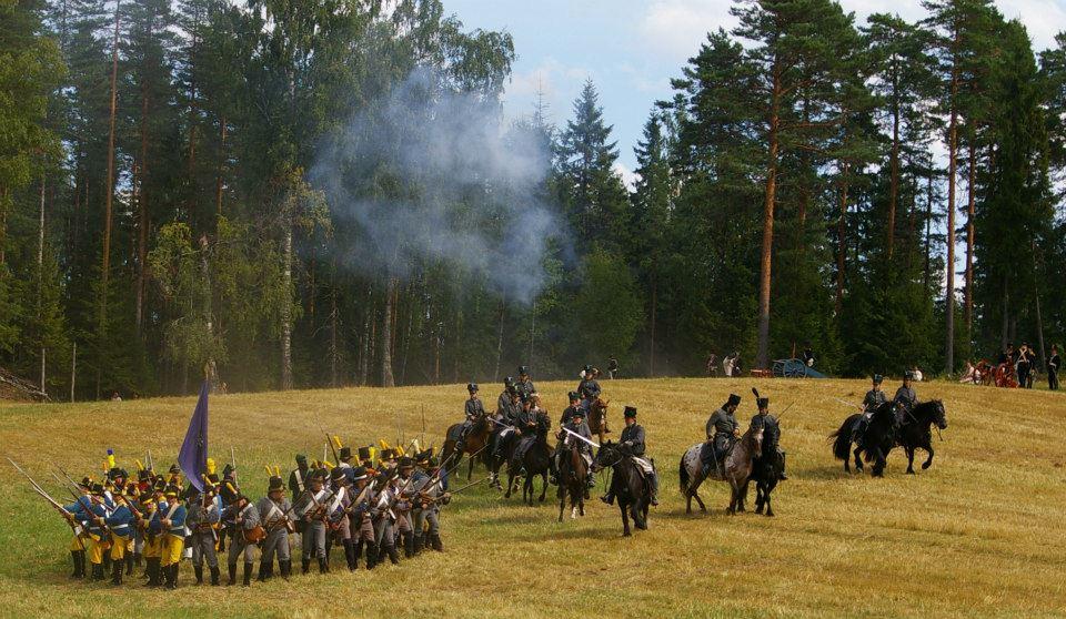 Svenska bataljonen bildar fyrkant